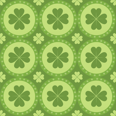 cute clover pattern Vector