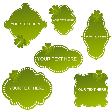 set of 6 st. patricks day banners Vector