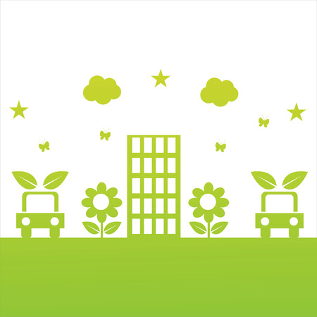 green ecological illustration Vector