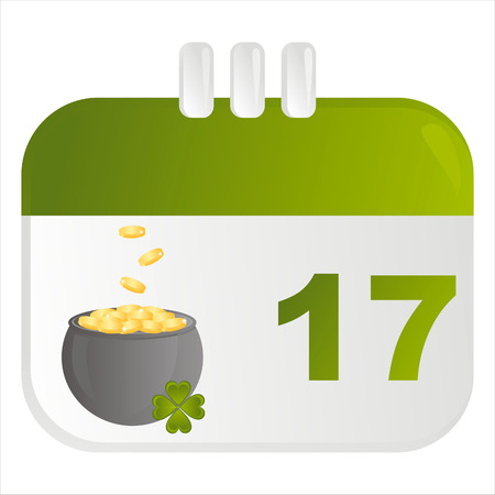 st. patrick's day calendar icon Stock Vector - 8777891