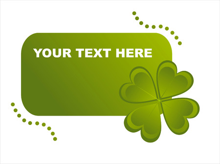 st. patrick's day frame with clover Stock Vector - 8777828