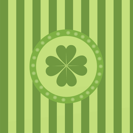 cute clover background Stock Vector - 8777905