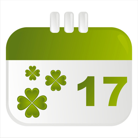 st. patricks day calendar icon Vector
