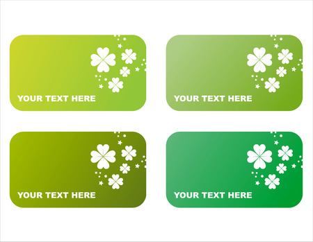 set of 4 st. patricks day frames Vector