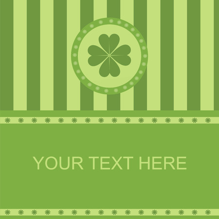 cute clover frame Stock Vector - 8777929