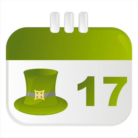 st. patrick's day calendar icon Stock Vector - 8777927