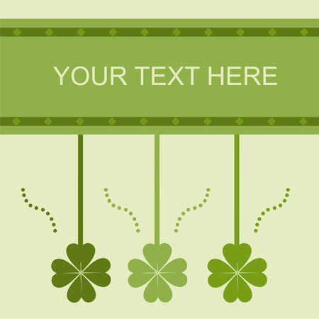 cute st. patrick's day card Stock Vector - 8794289