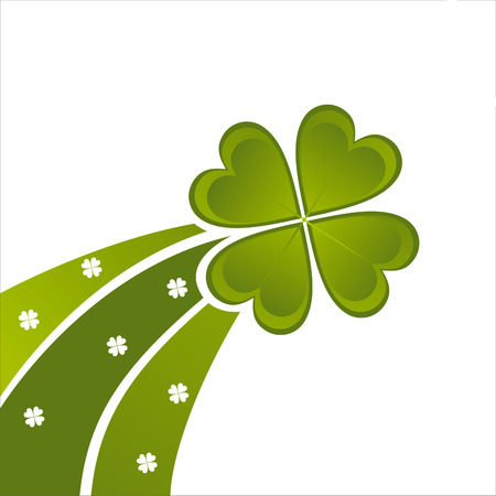 glossy st. patricks day background Vector