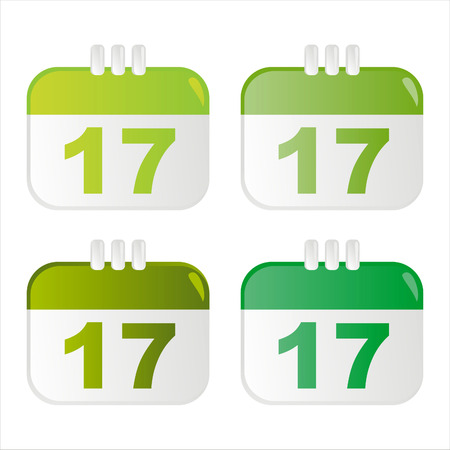 set of 4 st. patrick's day calendar icons Stock Vector - 8794302