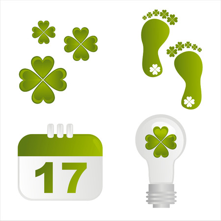set of 4 st. patrick's day icons Stock Vector - 8794312