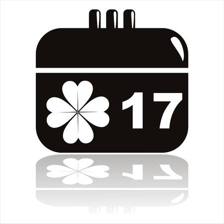 black st. patrick's day calendar icon Stock Vector - 8794296