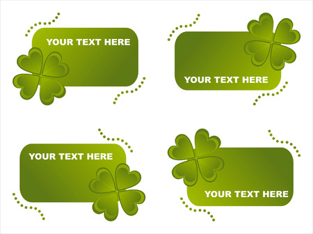 set of 4 st. patrick's day frames Stock Vector - 8794287