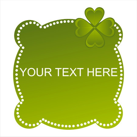 glossy st. patrick's day banner Stock Vector - 8810117