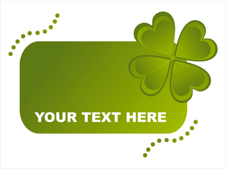 glossy st. patricks day frame Vector