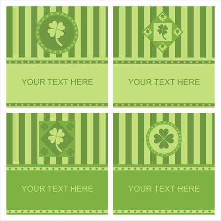 set of 4 cute clover frames Stock Vector - 8810120
