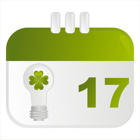 st. patrick's day calendar icon Stock Vector - 8837671