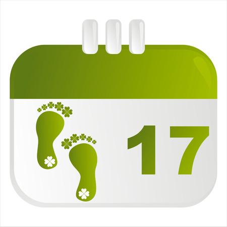 st. patrick's day calendar icon Stock Vector - 8837695