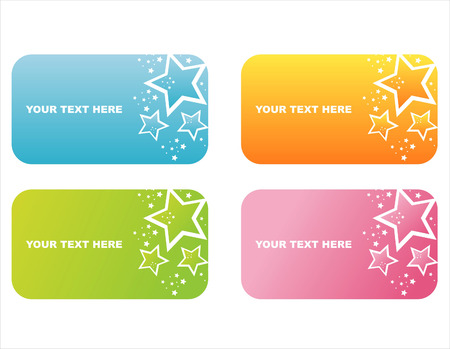 set of 4 colorful star frames Vector
