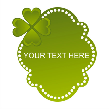 glossy st. patricks day banner Vector