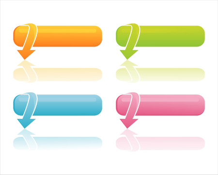 set of 4 colorful web banners