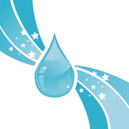 snow drops: glossy water drop background