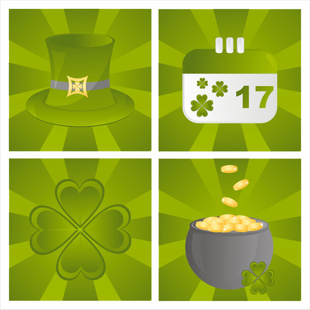 set of 4 st. patrick's day backgrounds Stock Vector - 8906576