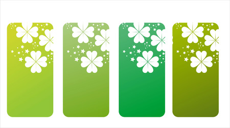 set of 4 st. patrick's day banners Stock Vector - 8906508
