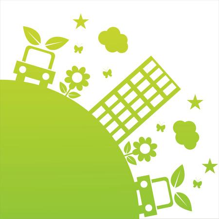 planet car:   green ecological illustration Illustration