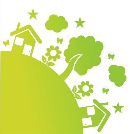 green ecological illustration Stock Vector - 8931059