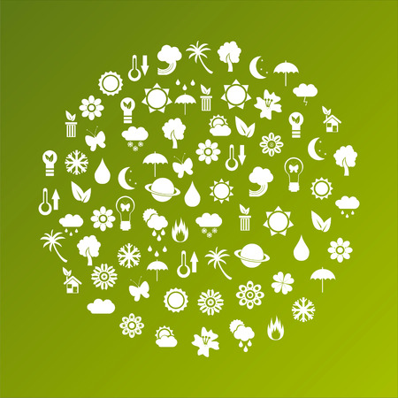 ecological planet made of icons Vector
