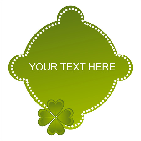 glossy st. patrick's day banner Stock Vector - 8931058