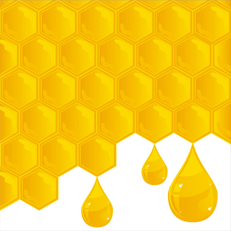 comb: glossy honeycombs texture Illustration