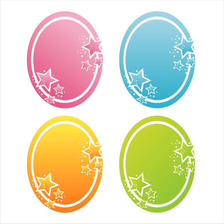 set of 4 colorful stars banners Vector