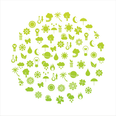 ecological planet made of icons Stock Vector - 8968768