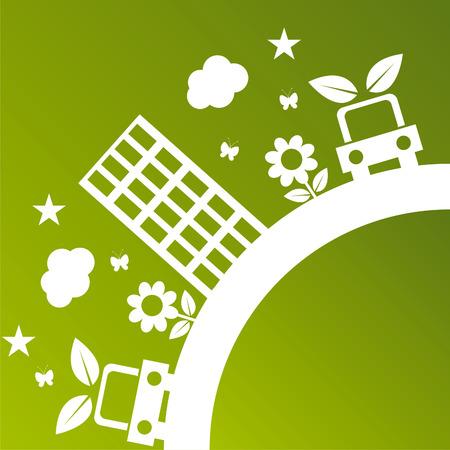 緑の生態学的な図
