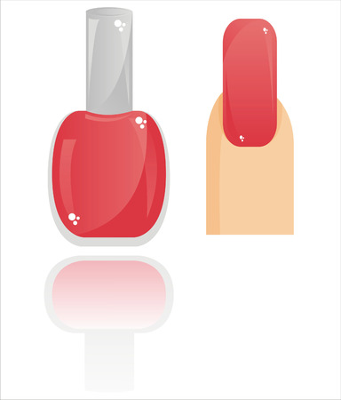 glossy nail polish isolated on white Vector