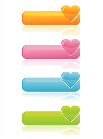 set of 4 colorful web banners Stock Vector - 9036640
