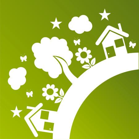 green ecological illustration Stock Vector - 9036743
