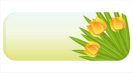 spring banner with bunch of tulips Vector