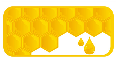 honey comb: glossy honeycombs banner Illustration