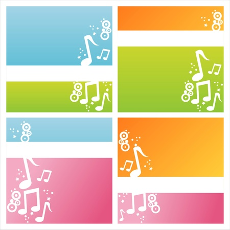 set of 4 modern musical backgrounds