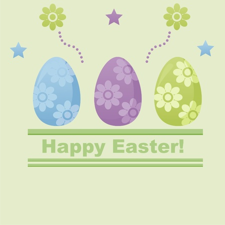 cute easter background Stock Vector - 9203236