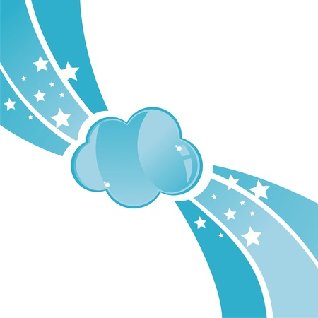 glossy cloud background Stock Vector - 9203255