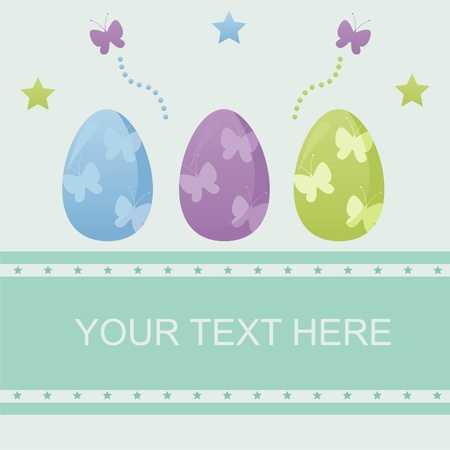 cute easter background Vector