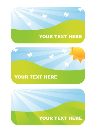 set of 3 shiny spring banners Vector