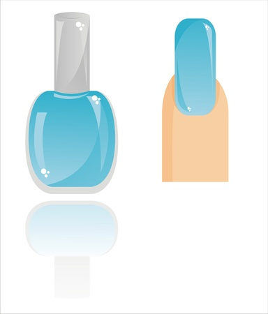 glossy nail polish isolated on white Stock Vector - 9273430