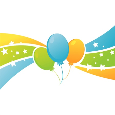 colorful birthday balloons background Vector