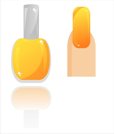 glossy nail polish isolated on white Vector