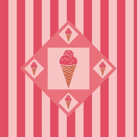 cute ice cream background Vector