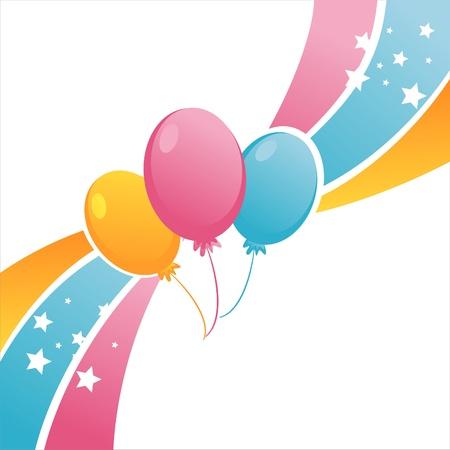 globos de cumplea�os: Fondo de globos coloridos cumplea�os